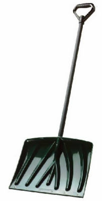18-In. Green Poly Snow Shovel With D-Grip Handle
