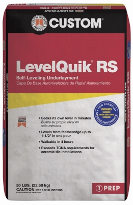 Level Quik Self-Leveling Underlayment, Cement-Based, 50-Lb.