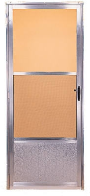 Storm Door, Self-Storing Screen, Mill Finish Aluminum, 32 x 80-Inch