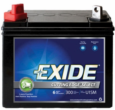 Cutting Edge Lawn Tractor Battery, Right Side, 12-Volt