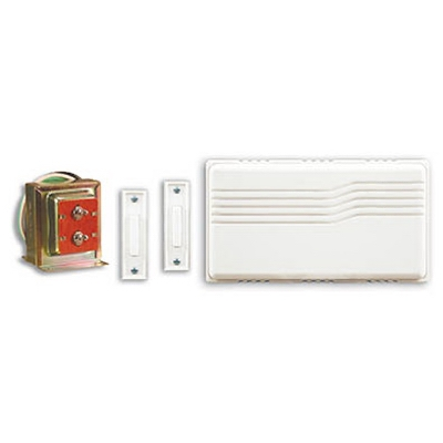 Wired Doorbell Contractor Kit, White
