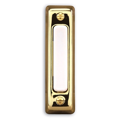 Wired Push Button, Polished Brass