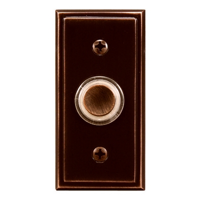 Wired Push Button, Bronze