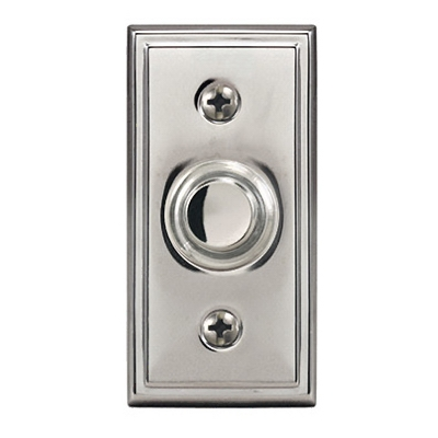 Wired Push Button, Satin Nickel