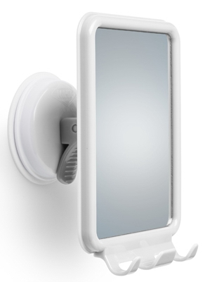 Shower Mirror, White, Shatterproof