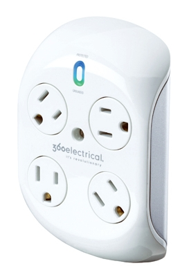 Rotating Surge Protector, White