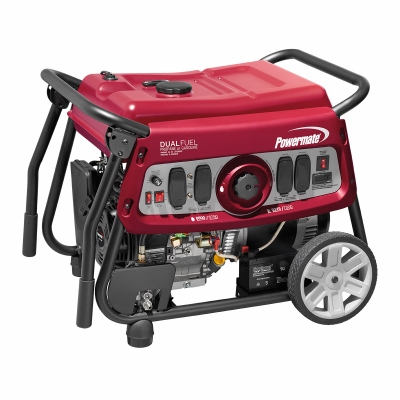 Powermate Dual Fuel Portable Generator, 7500-Watts