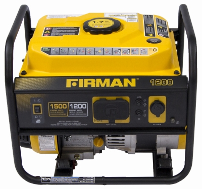 1500W Portable Generator, 12 Hour Run time
