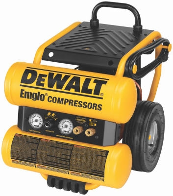 Electric Air Compressor, Wheeled, 1.1-HP, 4-Gallon