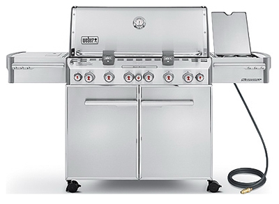 Summit S-670 6-Burner Natural Gas Grill + Side-Burner & Rotisserie, 60,000 BTU