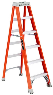Fiberglass Step Ladder, 300-Lbs., 7-Ft.