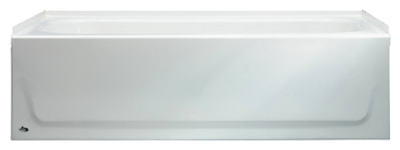 Left Hand Bath Tub, White, 5-Ft.