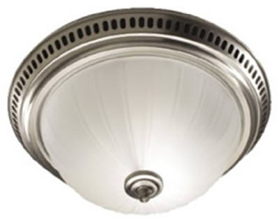Satin Nickel Decorative Bathroom Light & Fan