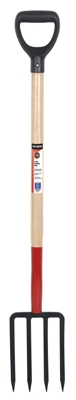 Master Series 28-Inch D-Handle Steel & Wood Digging Fork