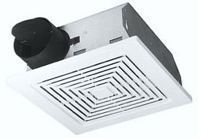 Bathroom Exhaust Fan, 60 CFM, 5.5 Sones, 9.25 x 9-In.