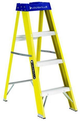 4-Ft. Step Ladder, Fiberglass, Type I, 250-Lb. Duty Rating