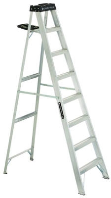 8-Ft. Step Ladder, Aluminum, Type 1A, 300-Lb. Duty Rating