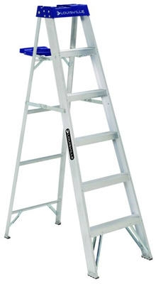 6-Ft. Step Ladder, Aluminum, Type I, 250-Lb. Duty Rating