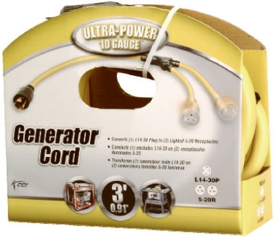 3-Ft. 10-Guage Generator Adapter Cord