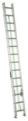 20-Ft. Extension Ladder, Aluminum, Type II, 225-Lb. Duty Rating