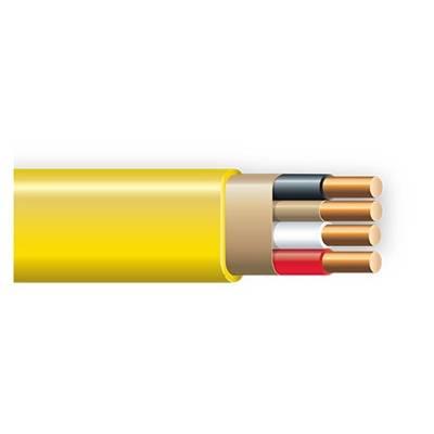 Non-Metallic Sheathed Cable With Ground, Copper, 12/3, 250-Ft.