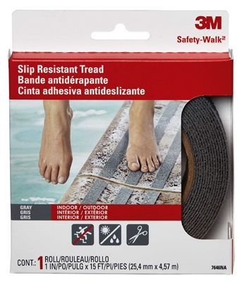 Anti-Slip Safety Tread, Gray, 1 x 180-In. Roll