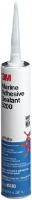 Polyurethane Marine Adhesive/Sealant, White, 1/10-Gal. Cartridge