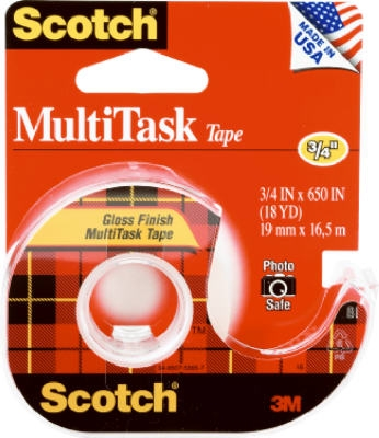 Scotch Household Tape, Clear, .75 x 650-In.