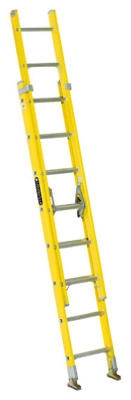 16-Ft. Extension Ladder, Fiberglass, Type I, 250-Lb. Duty Rating