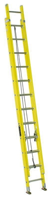 24-Ft. Extension Ladder, Fiberglass, Type I, 250-Lb. Duty Rating