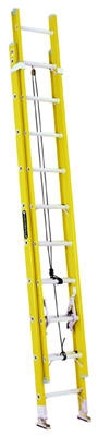 20-Ft. Extension Ladder, Fiberglass, Type I, 250-Lb. Duty Rating