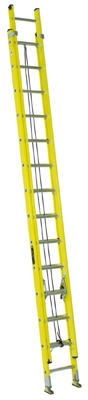 28-Ft. Extension Ladder, Fiberglass, Type I, 250-Lb. Duty Rating