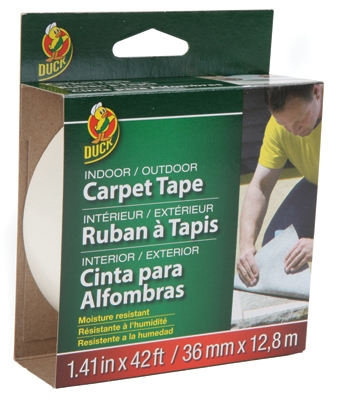 Fiberglass Carpet Tape, Indoor/Outdoor, 1.41-In. x 42-Ft.
