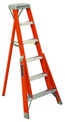 6-Ft. Tripod Step Ladder, Fiberglass, Type IA, 300-Lb. Duty Rating