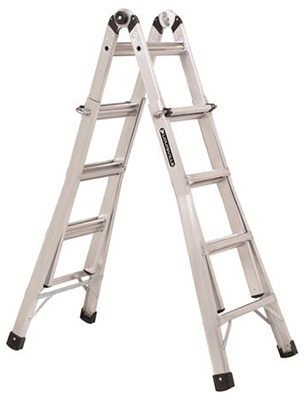 13-Ft. Multi-Purpose Ladder, Aluminum, Type IA, 300-Lb. Duty Rating