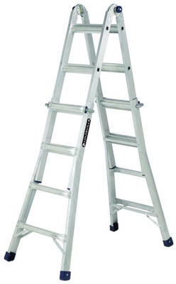 22-Ft. Multi-Purpose Ladder, Aluminum, Type IA, 300-Lb. Duty Rating