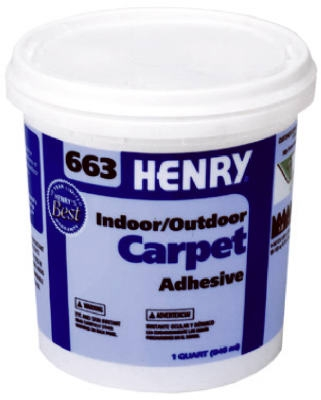 663 Outdoor Carpet Adhesive, 1-Qt.