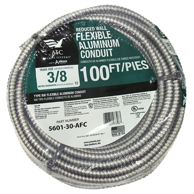Conduit, Reduced Wall, Aluminum, 3/8-In. x 100-Ft. Coil