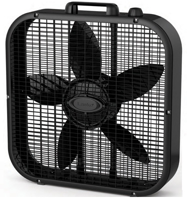 Box Fan, 3-Speed, Black, 20-In.