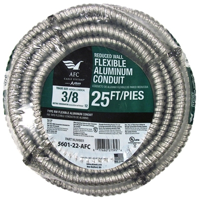 Conduit, Reduced Wall, Aluminum, 3/4-In. x 25-Ft. Coil