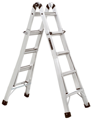 17-Ft. Multi-Purpose Ladder, Aluminum, Type IA, 300-Lb. Duty Rating