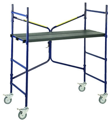 4-Ft. Steel Ladder/Mini Fortress Mobile Work Stand 500-Lb. Duty Rating