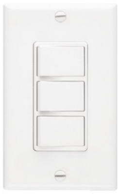 Nautilus White 3-Function Control Wall Switch