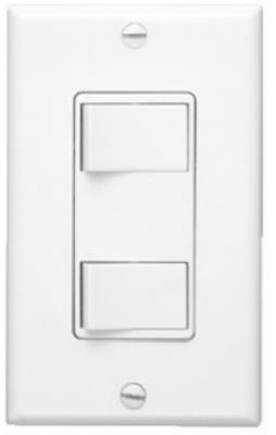 Nautilus White 2-Function Control Wall Switch
