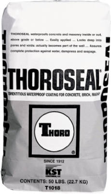 ThoroSeal Waterproof Coating, Cement Based, Gray, 50-Lb.