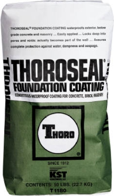 ThoroSeal Foundation Coating, Cement Base, Gray, 50-Lb.
