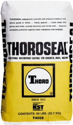 ThoroSeal Waterproof Coating, Cement Based, White, 50-Lb.