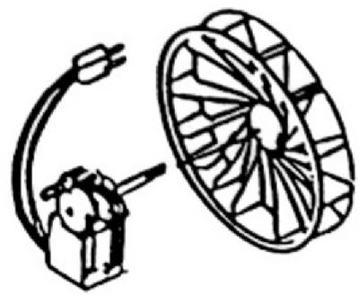 Bathroom Fan Motor & Blower Wheel