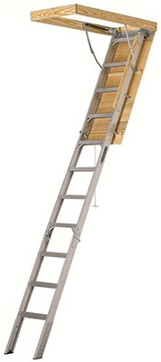 Aluminum Attic Ladder, 22.5-In. x 54-In.