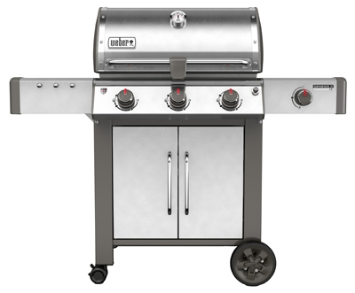 Genesis II LX S-340 3-Burner Natural Gas Grill + Side Burner, 43,500-BTU, Stainless Steel
